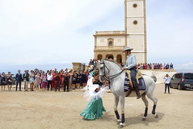 Espectáculo flamenco que ofrecieron Ana Belén Álvarez y el jinete Pablo Luque.