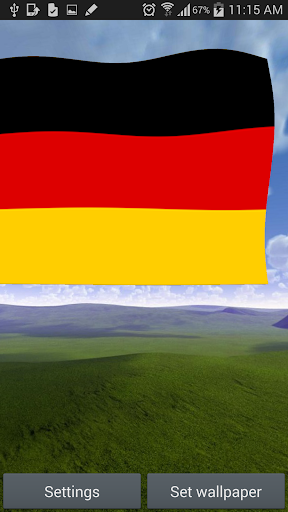 3D Germany Flag Live Wallpaper