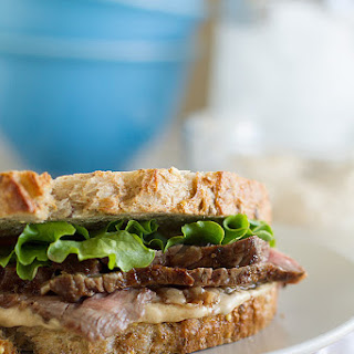 Steak Sandwich Recipe with Worcestershire Mayonnaise