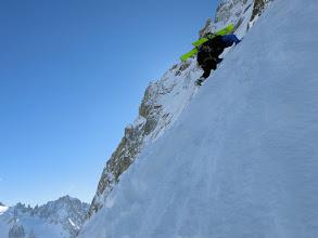 Photo: Steep start after bergschrund
