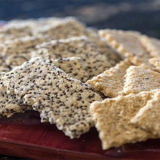 Rosemary Almond Crackers Two Ways.