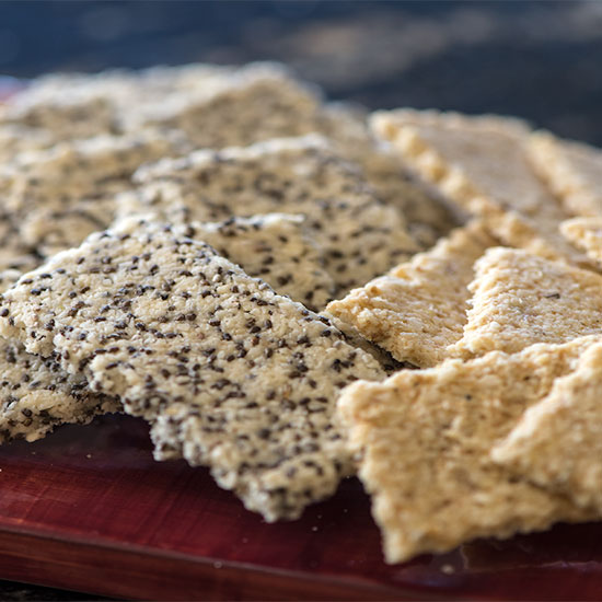 Rosemary Almond Crackers Two Ways Recipe