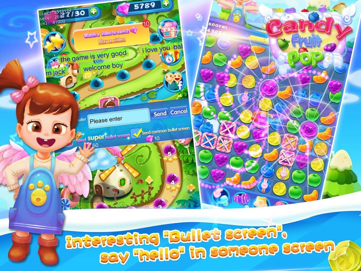 Fruit pop crush game - Candy Fruit Pop Screenshot
