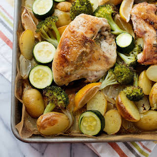 Garlic Butter Roasted Chicken.