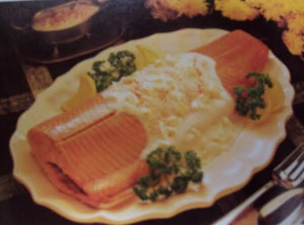 Salmon With Egg Sauce ( Low Calorie)