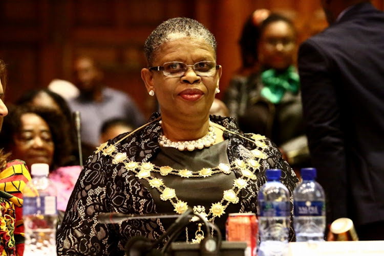 eThekwini Mayor Zandile Gumede during her inauguration at the Durban City Hall on August 23, 2016 in Durban, South Africa. Gumede who is the first woman to be elected mayor of the metro won by 126 votes to 87 votes received by DA's Zwakele Mncwango.