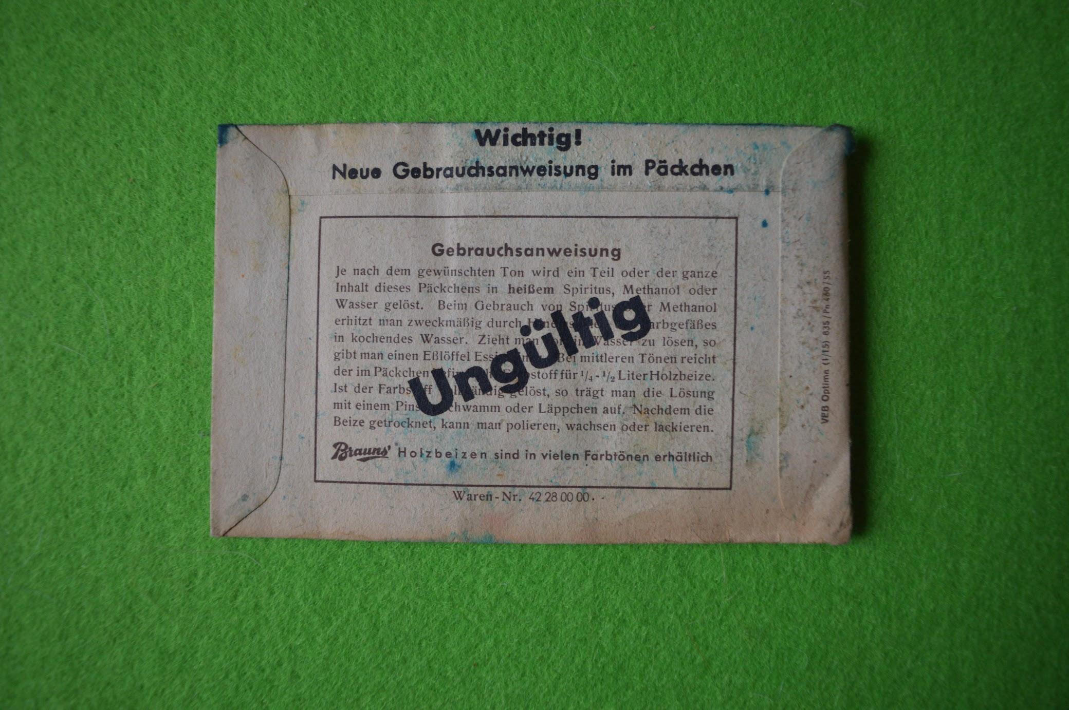 Brauns' Holz-Beizen, Quedlinburg, Lichtblau 020