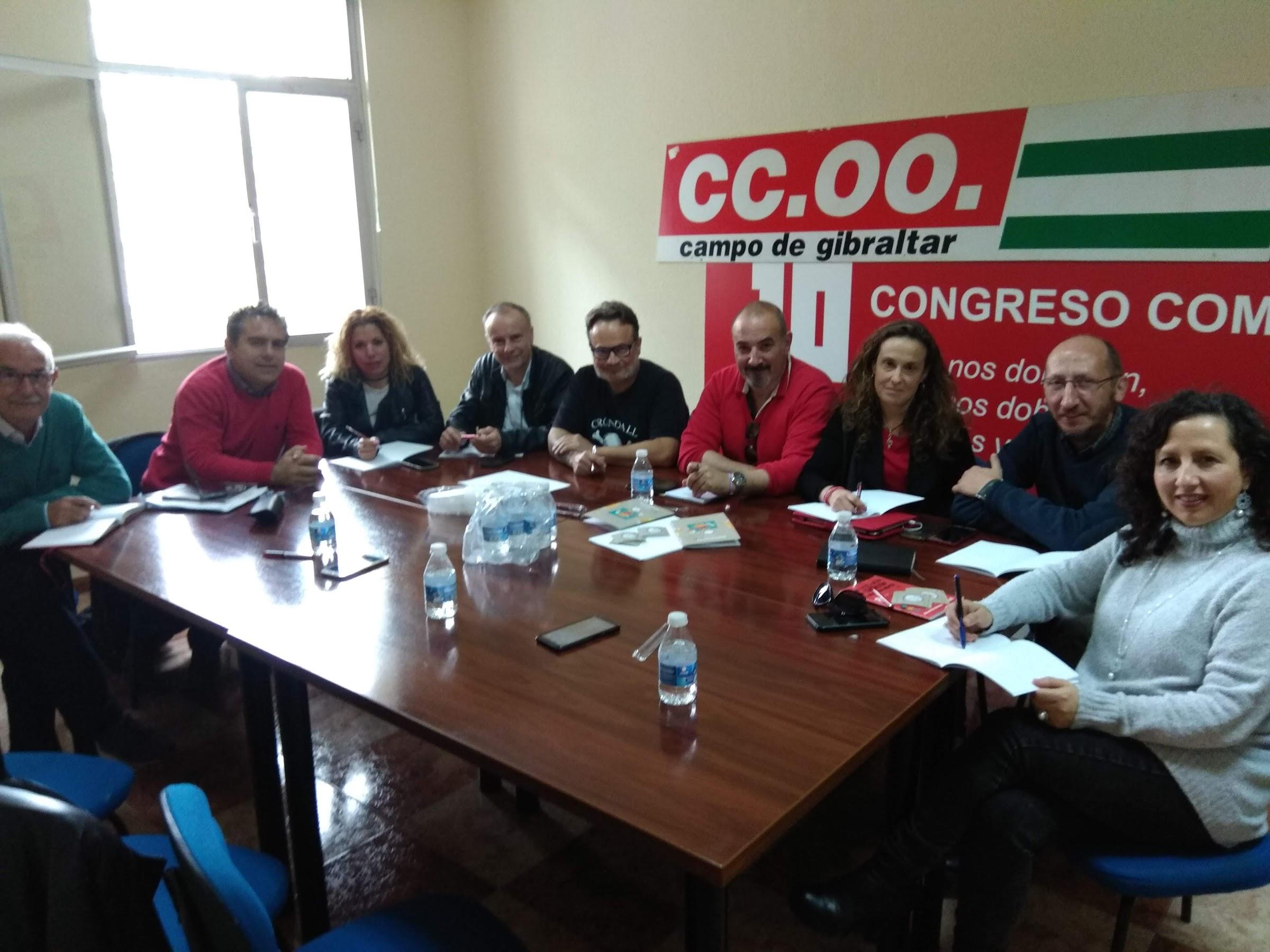 Máximos responsables de enseñanza de CCOO de Andalucía se dan cita en la Comarca