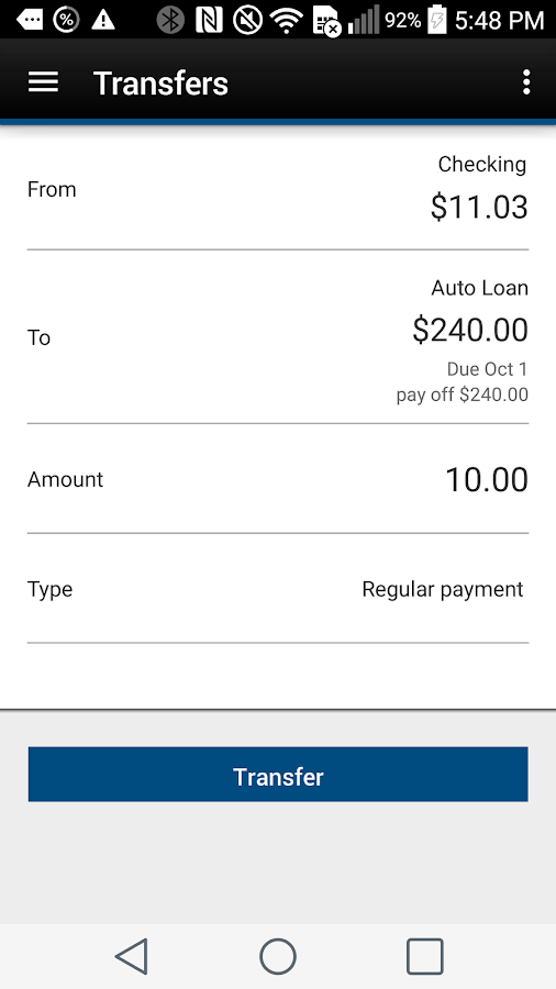 Webster First FCU- screenshot