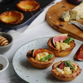 Gluten Free Yorkshire Puddings with Figs & Blue Cheese.