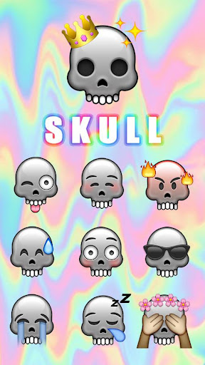 GO Keyboard Sticker Skull|玩個人化App免費|玩APPs