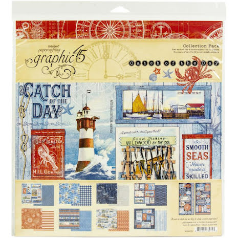 Graphic 45 Collection Pack 12X12 - Catch Of The Day
