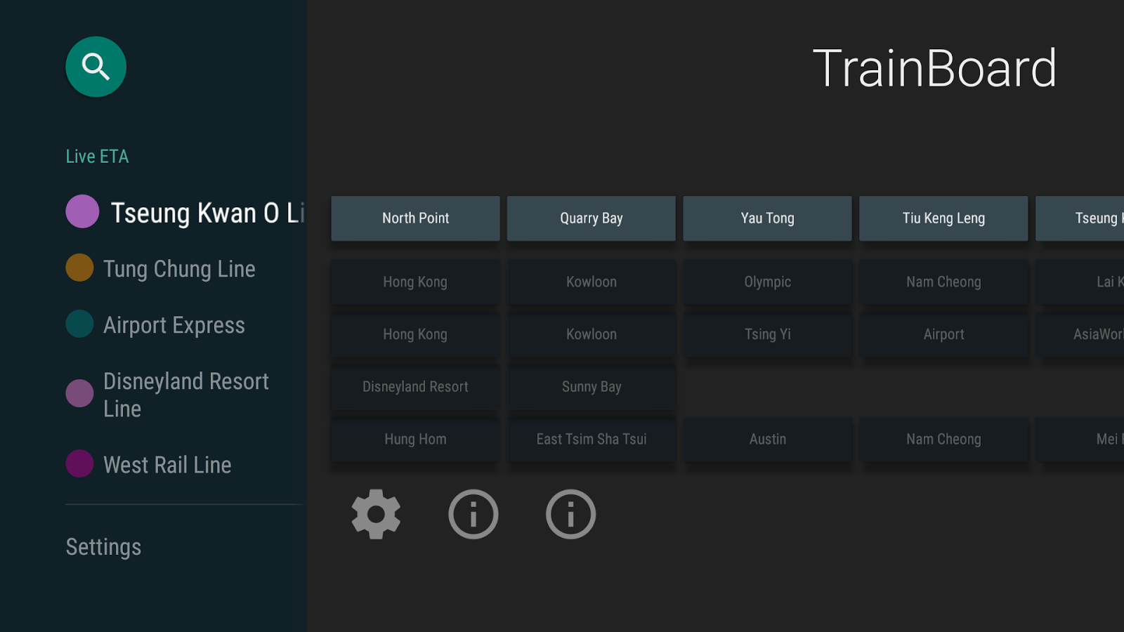 TrainBoard for Android TV- screenshot