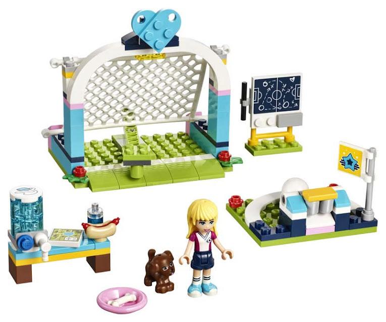Contenido de Lego® 41330 Entrenamiento de Fútbol de Stephanie