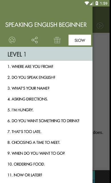 Speaking English Beginner- screenshot
