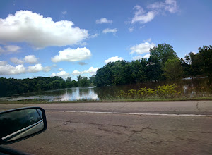 Photo: Flooding along the river between Mankato and Saint Peter