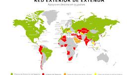 La red internacional de Extenda llega a la mayoría de países del mundo