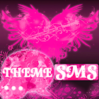Heart Pink Theme GO SMS Pro icon