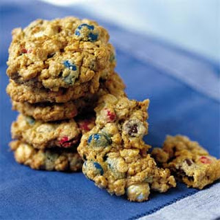 Chewy Red, White, and Blue Cookies.