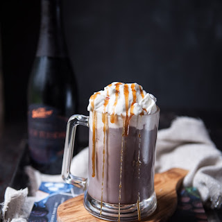 Spiked Hot Chocolate with Salted Caramel Whipped Cream Recipe