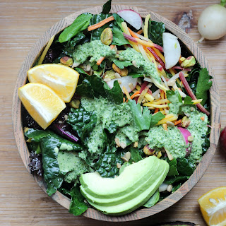 Vegan Detox Salad & Cilantro Tahini Dressing