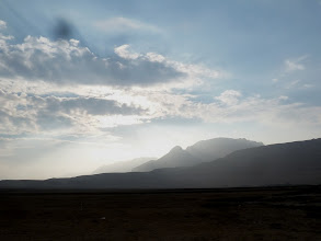 Photo: Sunset by the Dead Sea.