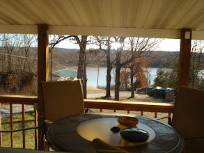Photo: Beautiful lake view from the large deck.