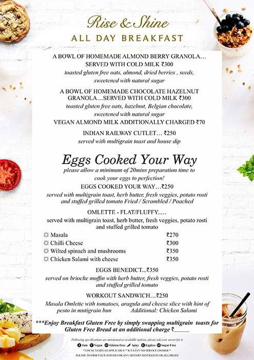 August Cafe menu 16
