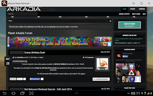 Arkadia News Network- screenshot thumbnail