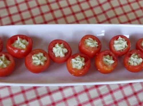 "Avocado-Stuffed Tomatoes ""These are so good! Made a batch for the family..."