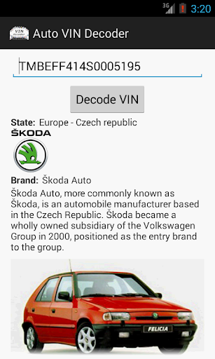 Auto VIN Decoder by Zencore CZ (Google Play, Japan) - SearchMan App