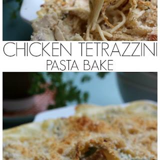 Chicken Tetrazzini Pasta Bake