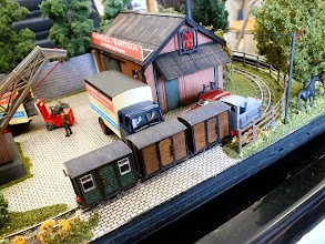 Photo: 018 Another view of Trevor Giddings' very attractive little Marshall & Hastings Works layout in 6.5mm gauge, featuring stock by Busch .