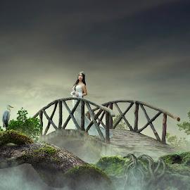 Bride of heaven by Muhamad Lazim - Digital Art People ( model, fashion, dramatic, bride )