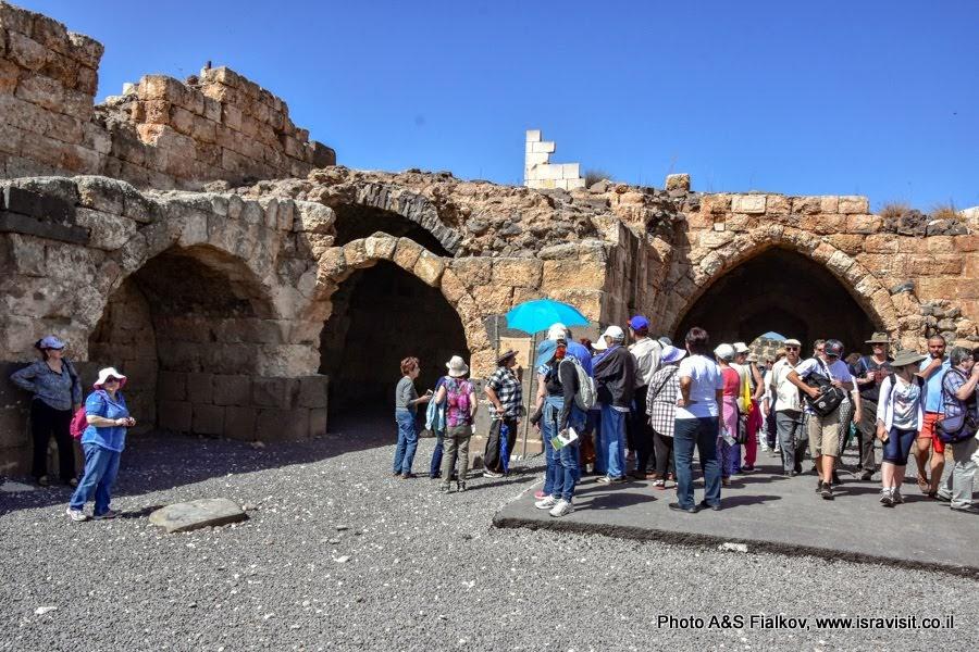 Экскурсия гида в Израиле Светланы Фиалковой во внутренней крепости (Цитадели) крестоносцев  Кохав а-Ярден.