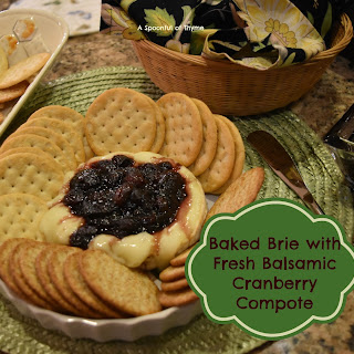 Baked Brie with Fresh Cranberry Balsamic Compote