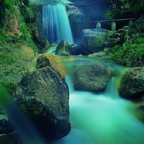 ceruk waterfall, natuna by Sapto Nugroho - Landscapes Waterscapes