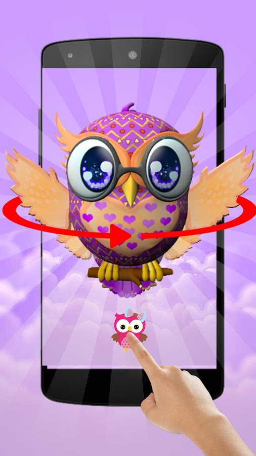Screenshots of Cute Owl 3D Theme for iPhone
