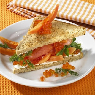 Salmon Caviar Sandwich.