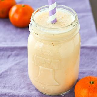 Clementine Smoothie with Vanilla.