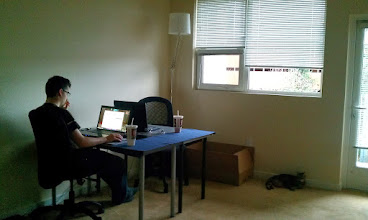 Photo: Our desks, now we can live \o/