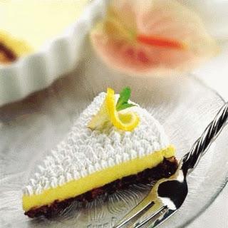 Lemon Pie on Chocolate Crust.