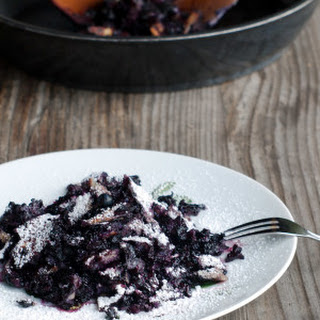 Kaiserschmarrn Recipe with Blueberries - Foolproof Easy Scratch Pancake Dessert.