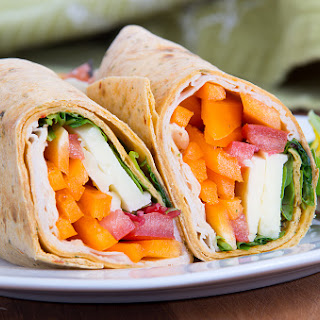 Turkey and Goat Cheese Wrap.
