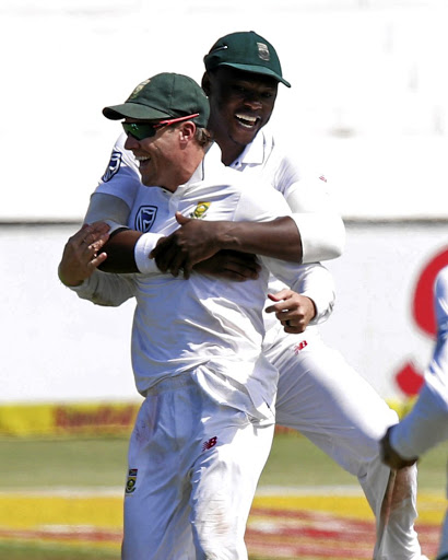 AB de Villiers and Kagiso Rabada. Picture: ROGAN WARD/REUTERS