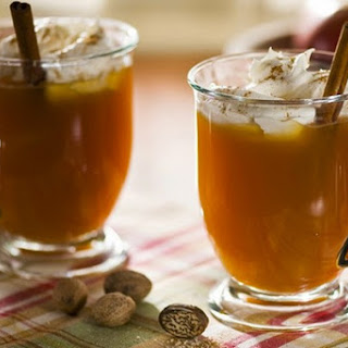 Cider With Whiskey And Cinnamon.