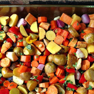 Easy Oven Roasted Vegetables.