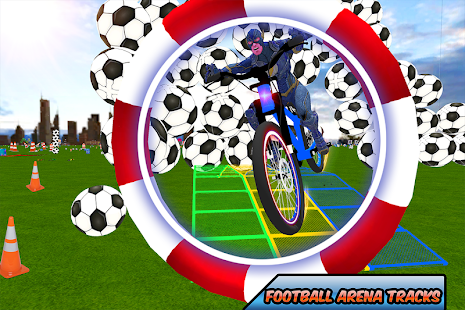 Superheroes Racing Bicycle City Stunts Simulation