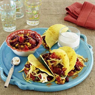 Bean and Vegetable Chili Tacos.
