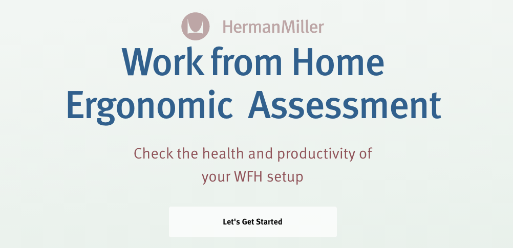 work from home ergonomic assessment quiz cover